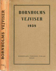 1938 Bornholms vejviser forside