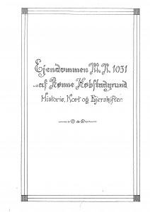 Ejendommen mn 1031 af Rønne Kød Historie Kort og Ejerskifter 1