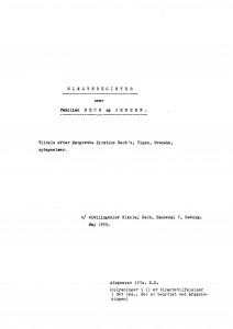 Slægtsregister over Familien Bivilingeniør Nikolaj Bech 1955 1