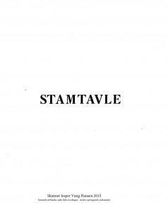 Stamtavlen over Familien Blem mlet og udgivet af P Blem 1921 1