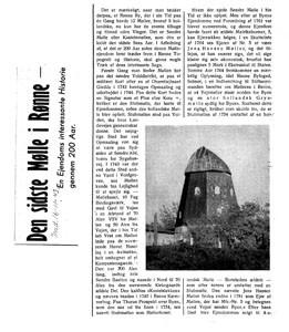 Den sidste Mølle i Rønne-artikel i Bornholms Tidende 1943 1