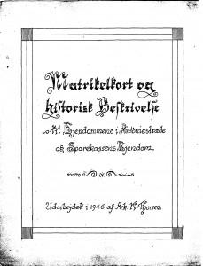 Matrikelkort og historisk Beskstræde og Sparekassens Ejendom 1