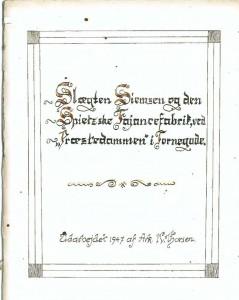 Slægten Siemsen og den Spietzs ved Præstedammen i TornegadeA 1