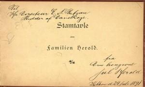 Stamtavle over Familen Herold 2