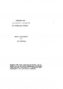 Stamtavle over Slægten Hammer og udarbejdet af Jul Bidstrup 1
