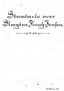 Stamtavle over slægten Funch-Jensen K Thorsen 1933 1