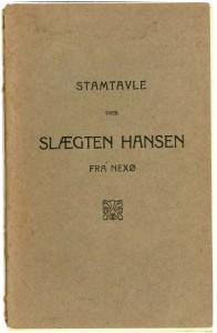 Stamtavle over slægten Hansen